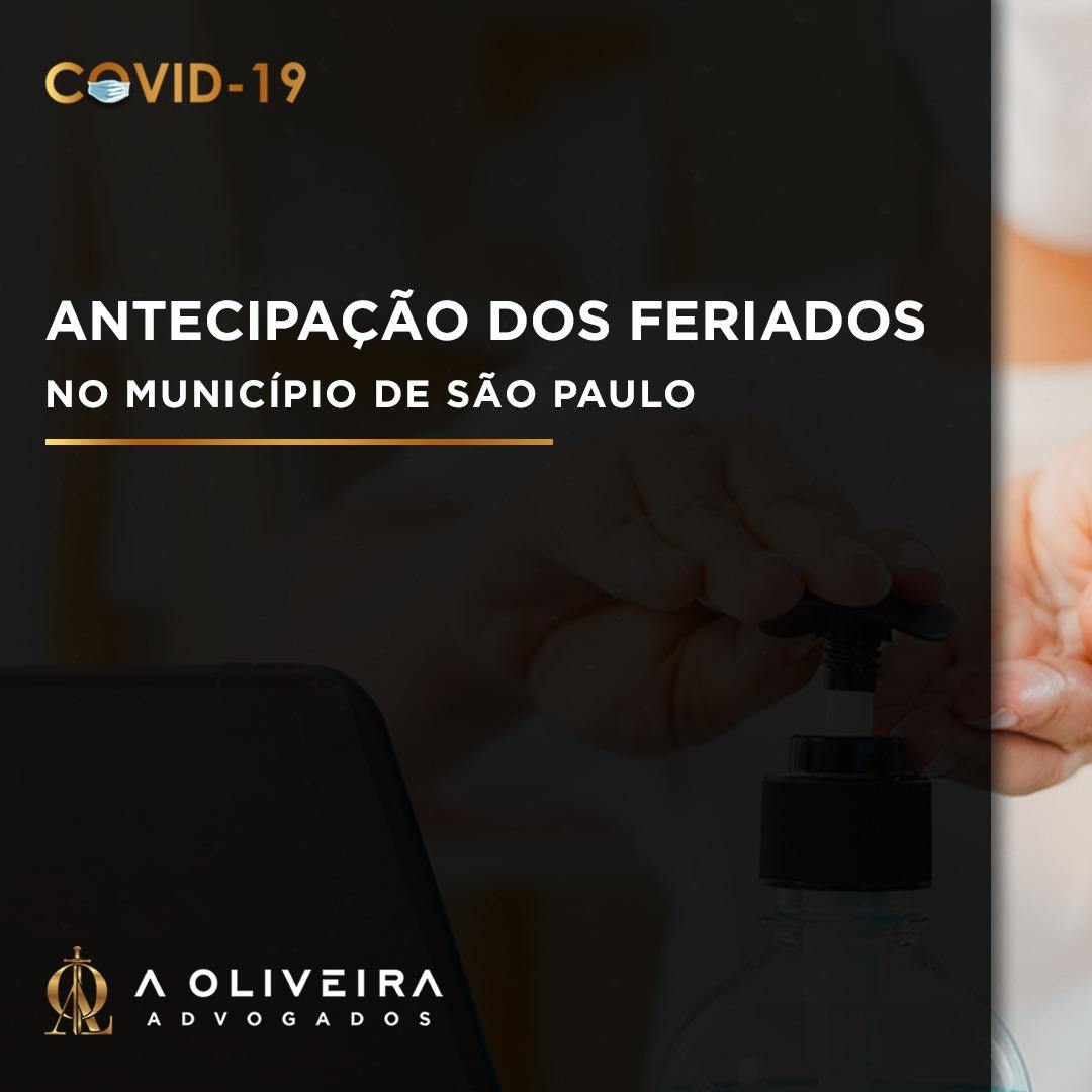 ANTECIPAÇÃO DE FERIADOS NO MUNICÍPIO DE SÃO PAULO